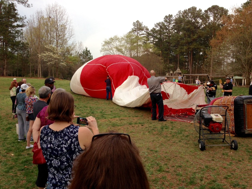 WRAL Freedom Balloon Fest volunteer training